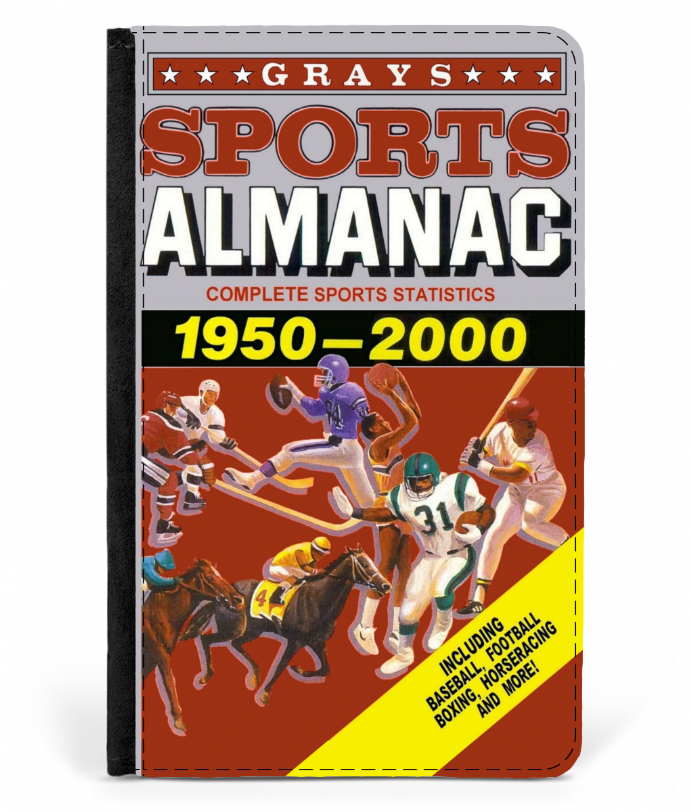 Grays Sports Almanac 1950-2000 Faux Leather Passport Cover based on Back to the Future